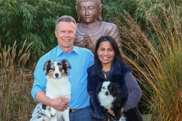 Meine Familie mit unseren beiden Hunden