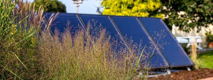 ueber uns Photovoltaikanlage zur Gewinnung erneuerbarer Energie