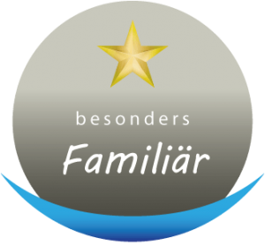 Logo ein Stern von 5 Sterne Qualität besonders Familiär