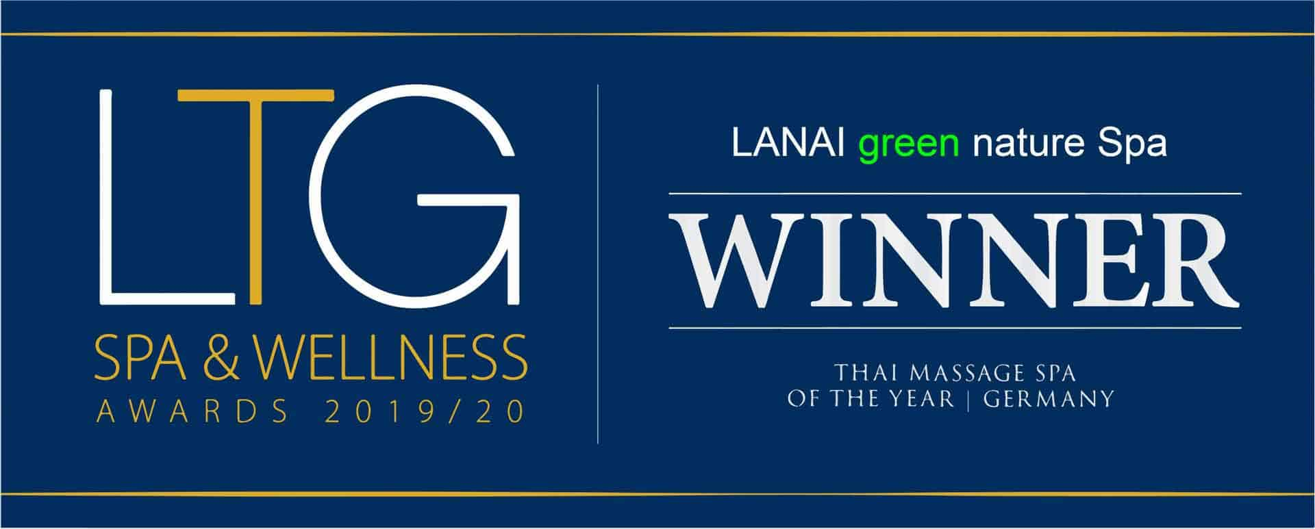 LTG Award Thai Massage & SPA Logo blau für green SPA Auszeichnung