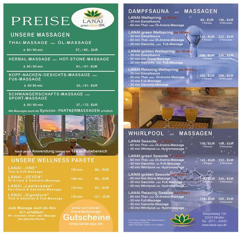 Preisliste 3-2021 LANAI green nature SPA