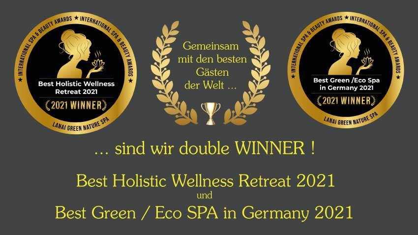 Award Auszeichnung 2021 Logo vom International Beauty und Spa Award